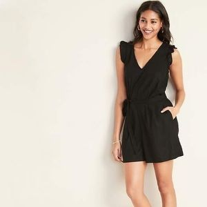 Old Navy Other - old navy tall black romper, linen